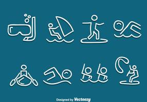 Hand Drawn Water Sport Vector Set