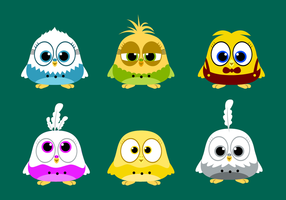 Free Budgie Character Vector