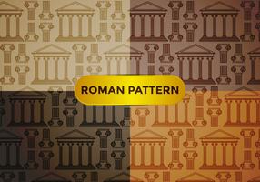 Roman Pillar Pattern Vector
