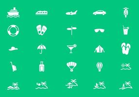 Holiday, Tourism and Travel Icon Vectors