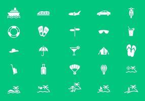 Vecteurs d'icônes de vacances, de tourisme et de voyage