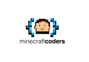 Minecraft coding for kids logo vector