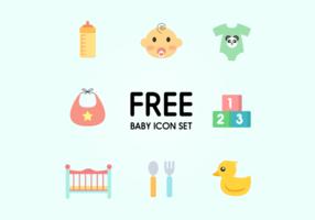 Baby pictogram vector set