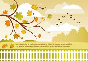 Vecteur libre paysage d'automne