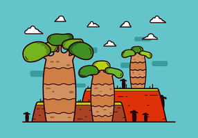 Gratis Baobab Tree Vector