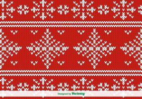 Rot gestricktes Vektormuster für Weihnachten
