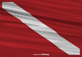 Fundo de bandeira de mergulho realista de vetores