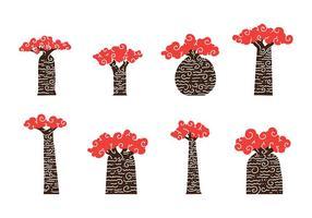 vettore di arte baobab