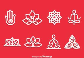 Yoga Meditation Symbol Vector