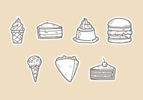 Illustrations vectorielles de dessert