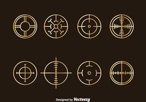 Golden Crosshairs Vector Set