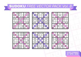 Sudoku Free Vector Pack Vol. 8