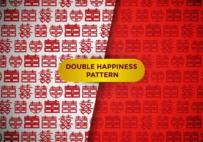 Double Happiness Pattern Vector