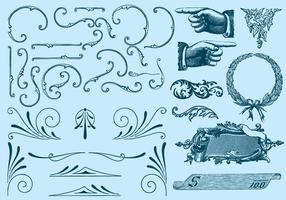 Typographic Ornaments vector