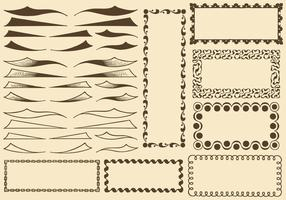Swishes And Borders vector