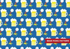 Cerveza Pong Patter Vector