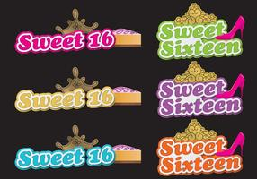Sweet 16 Shadow Titles vector