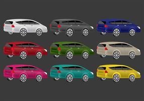 Färgglada Prius Vector Ikoner