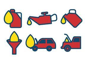 Vector de cambio de aceite