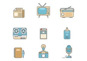 Gratis Retro Journalist Vector