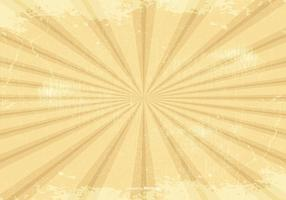 Retro Grunge Sunburst Background