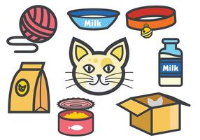 Iconos de gatos gratis Vector
