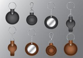 Leather Circle Keychains