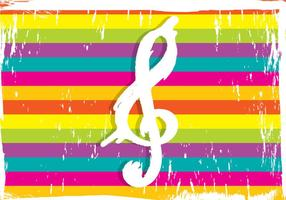 Violin Key On Colorful Background