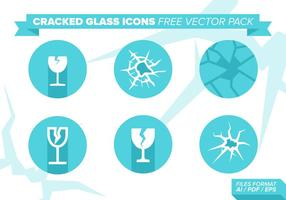 Cracked Glass Icons Free Vector Pack