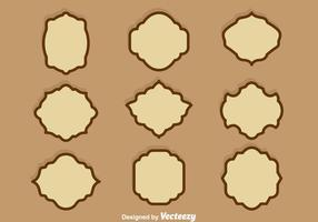 Brown Cartouche Vector Set
