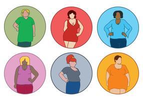 Mujeres gordas Vector