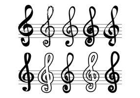 Vecteur clé de violon