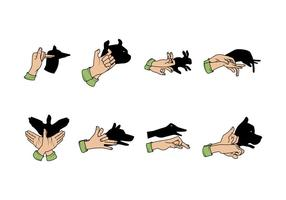 Gratis Shadow Puppets Vector