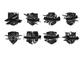 Vector de logotipo de biplano gratuito