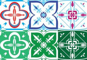 Portuguese Tile Set vector