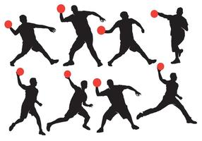 Dodgeball-Silhouette mit Ball-Vektoren