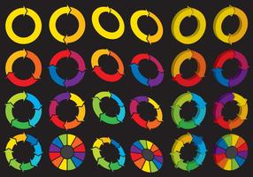 Spinning Wheel Logos vector