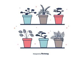 Plantas Potted Vector