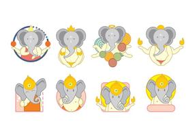Vecteur icons ganesh