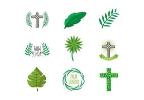 Gratis Palm Sunday Icons Vector