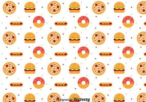 Flat Food Pattern vector