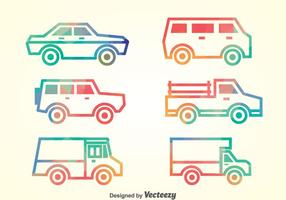 Autos Collection Vector Set