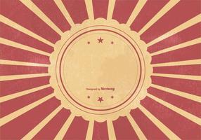 Retro Sunburst Vcetor Hintergrund