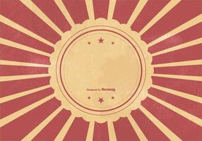 Retro Sunburst Vcetor Achtergrond