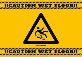 Wet Floor Caution Background vector