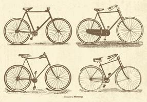 Vintage Vektor Fahrräder
