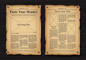 Viejas plantillas del vector del periódico