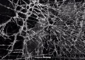 Struttura realistica di vettore di vetro incrinato