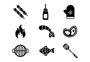 Gratis Barbecue Vector Pictogrammen
