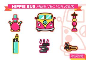 Hippie Bus Gratis Vector Pack